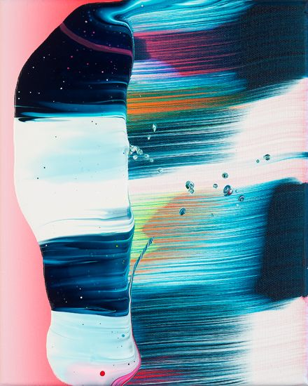 Spanish born, Berlin based artist Yago Hortal drips, smears, and splashes layers of acrylic paint onto canvas to create these abstract expressionistic works of art.