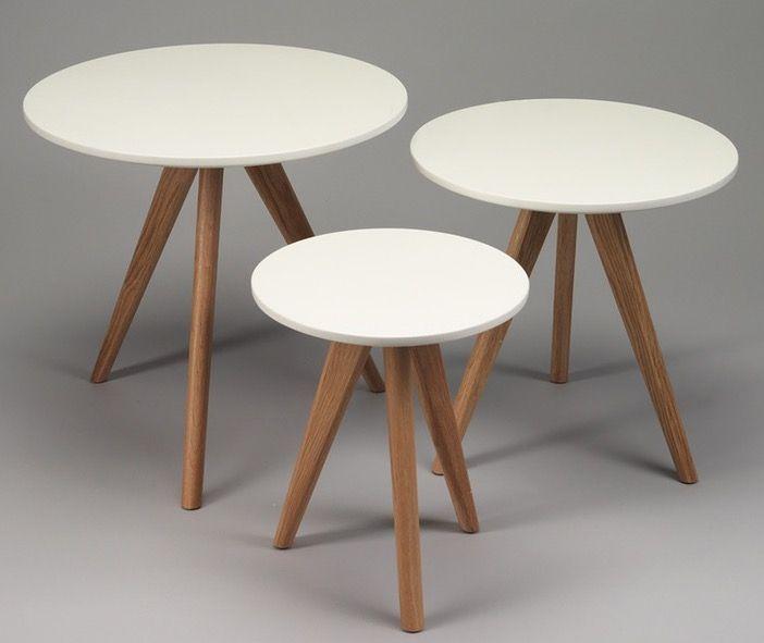 set de 3 tables gigognes scandi pour deco salon scandinave home sweet home pinterest deco deco salon and change 3 - Set De Table Scandinave