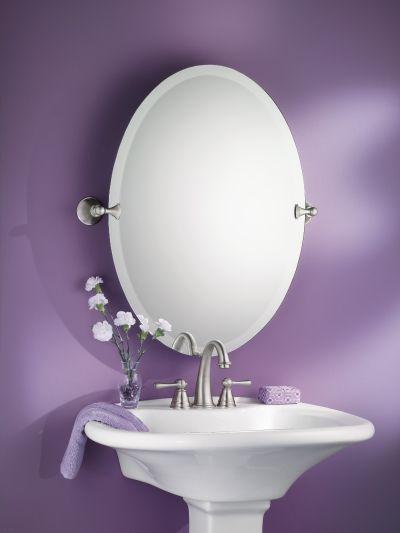 Glenshire Brushed nickel mirror -- DN2692BN -- Moen 82.45