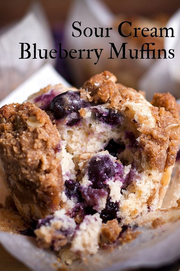 Sour Cream Streusel Blueberry Muffins Of Batter Dough Recipe In 2020 Sour Cream Blueberry Muffins Blue Berry Muffins Dessert Recipes