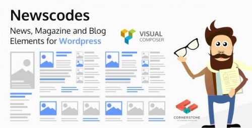 News, Magazine and Blog Elements for Wordpress! Welcome to the future of your posts! Newscodes will dramatically revolutionize how you use and display