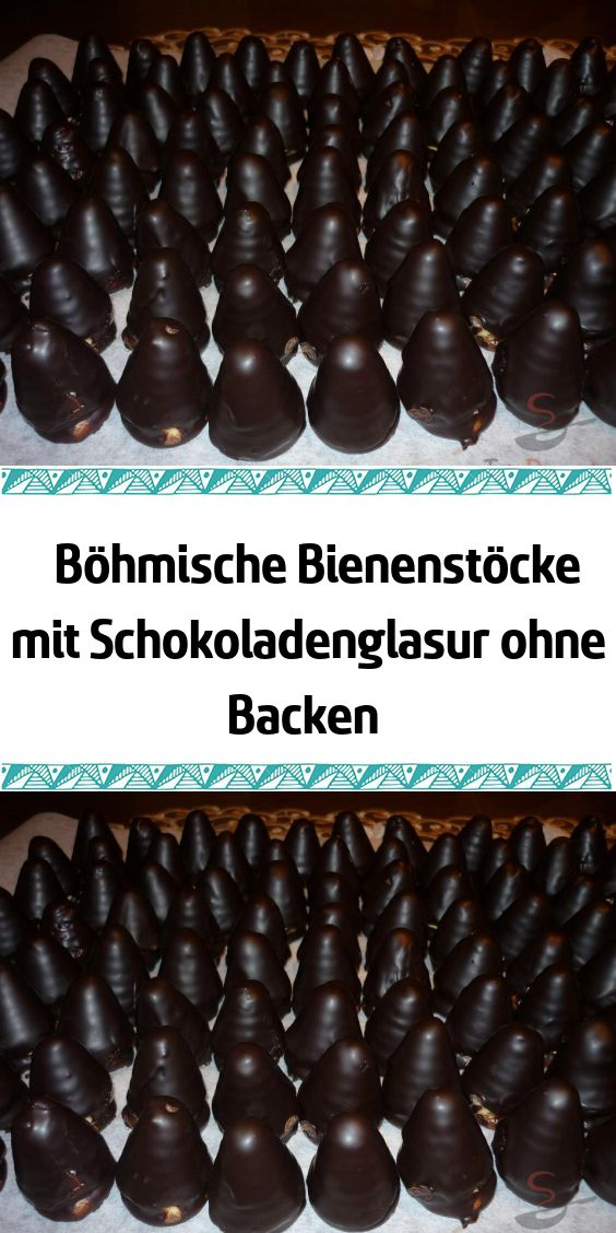 Bohemian beehives with chocolate glaze without baking  – Rezepte