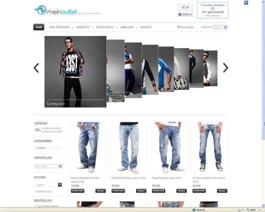 Online-Shop Meinoutlet.com by r. voss internet service | #ecommerce #onlineshop