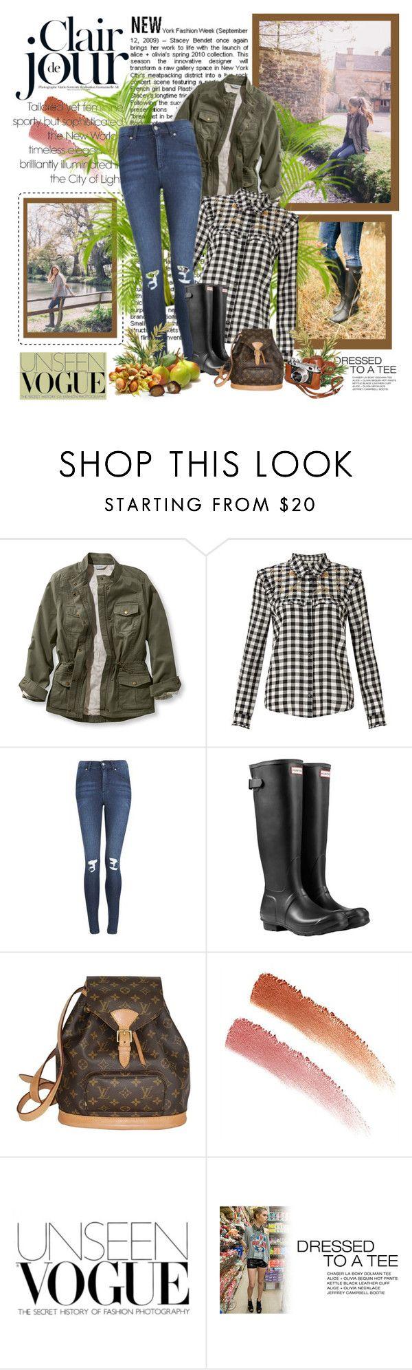 """Fall Rain Boots"" by malinda108 ❤ liked on Polyvore featuring Hunter, L.L.Bean, Miss Selfridge, Cheap Monday, Louis Vuitton, NARS Cosmetics, rainboots and galmeetsglam"