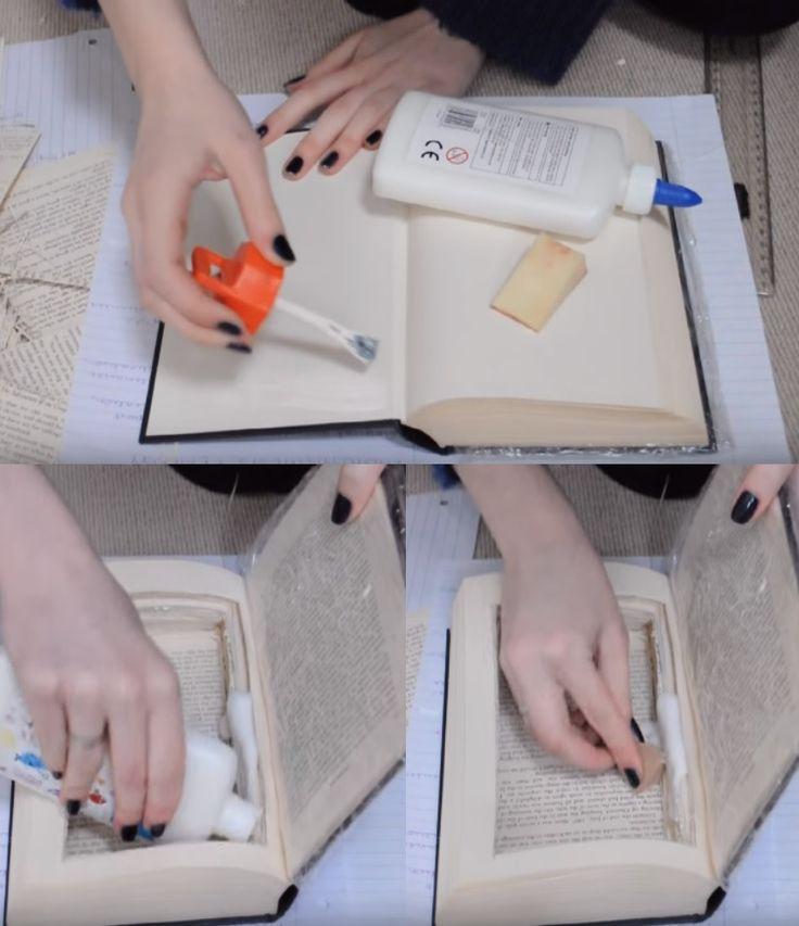 La fabrication facile d'un livre coffre-fort surprenant pour y mettre vos trésors