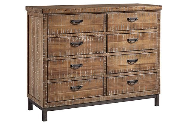 Light Brown Fanzere Dresser Ashley Furniture Home
