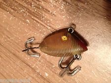 """UNKNOWN CLEAR RIBBED 1 1/2"""" BAYOU BOOGIE CHOPNOSE CRANKBAIT LURE"""