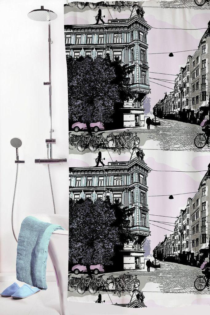 Vallila Bulevardi Shower curtain