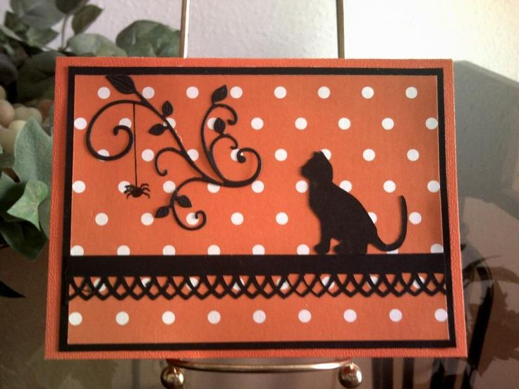 Cased: Dangling Spider by Precious Kitty - Cards and Paper Crafts at Splitcoaststampers