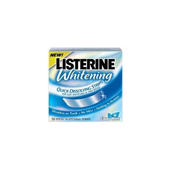 Listerine Whitening Strips Reviews | Teeth Whitener Reviews ❤ liked on Polyvore featuring makeup, beauty, bathroom things and filler