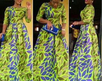 formal african dress. Clothing for women. Ankara by TrueFond