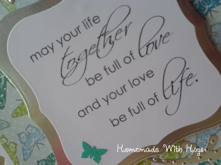 Homemade With Hugs: Engagement Card