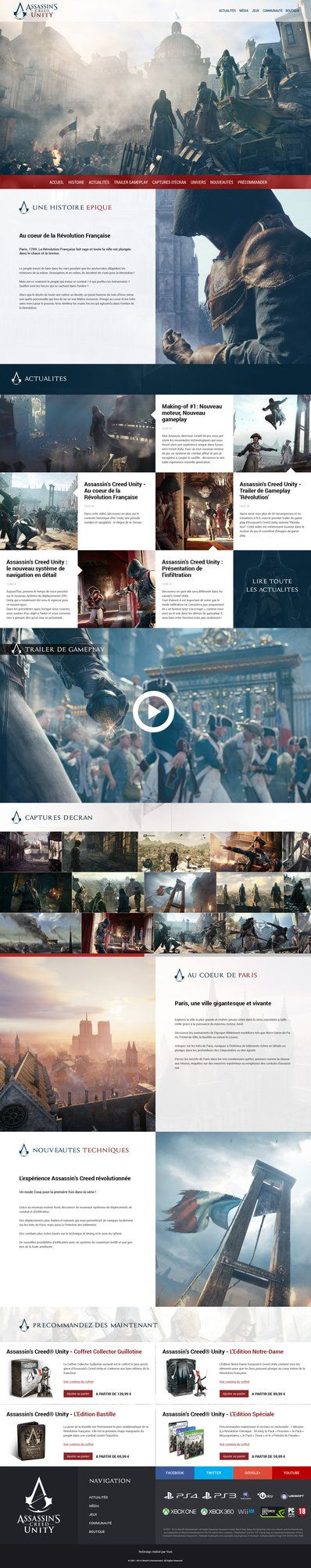 Assassin s creed unity review next available slot assassin s creed - Assassin S Creed Unity Website Redesign By Yuni Style