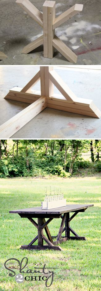 X-Farmhouse Table…. I would love this for outside instead of the table I have. How nice! Huney Mike can make me one as a nice gift! LOL: