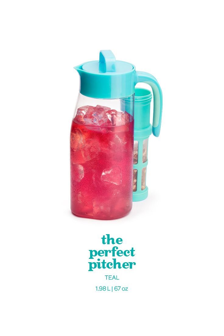 This leakproof pitcher lays flat for easy storage. Could it be more perfect?