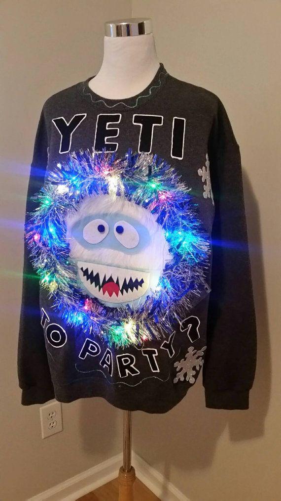 Ugly Christmas Sweater Yeti To Party with by UglySweatersForU