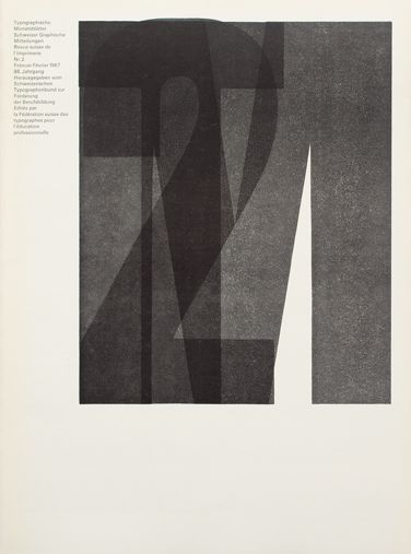 Typographische Monatsblätter Cover issue 2 – 1967 Design: Horst Hohl Typeface: Ruder Grotesk & Univers