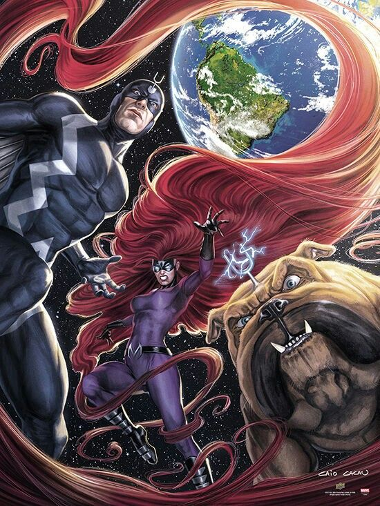Black Bolt, Medusa and Lockjaw