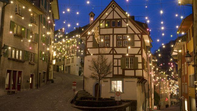 Christmas lighting Baden, Switzerland