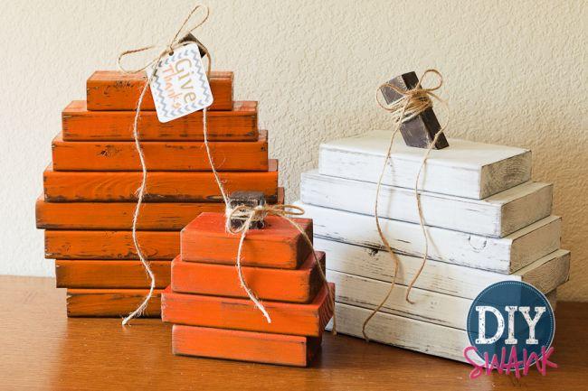 Rustic wood pumpkins diy fall decor - Home decorating made easy minimalist ...