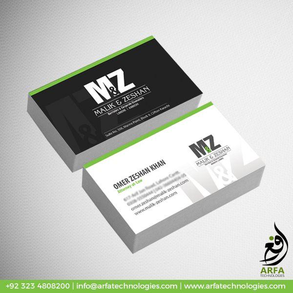 M Z Business Card Design Business Card Design Cool Business Cards Custom Business Cards