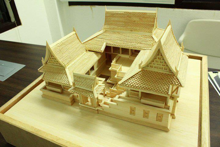 Khmer house model