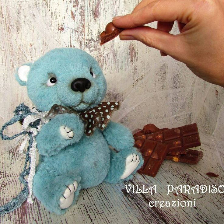Artist bear, teddy baby stuffed animals by Villa Paradiso Creazioni