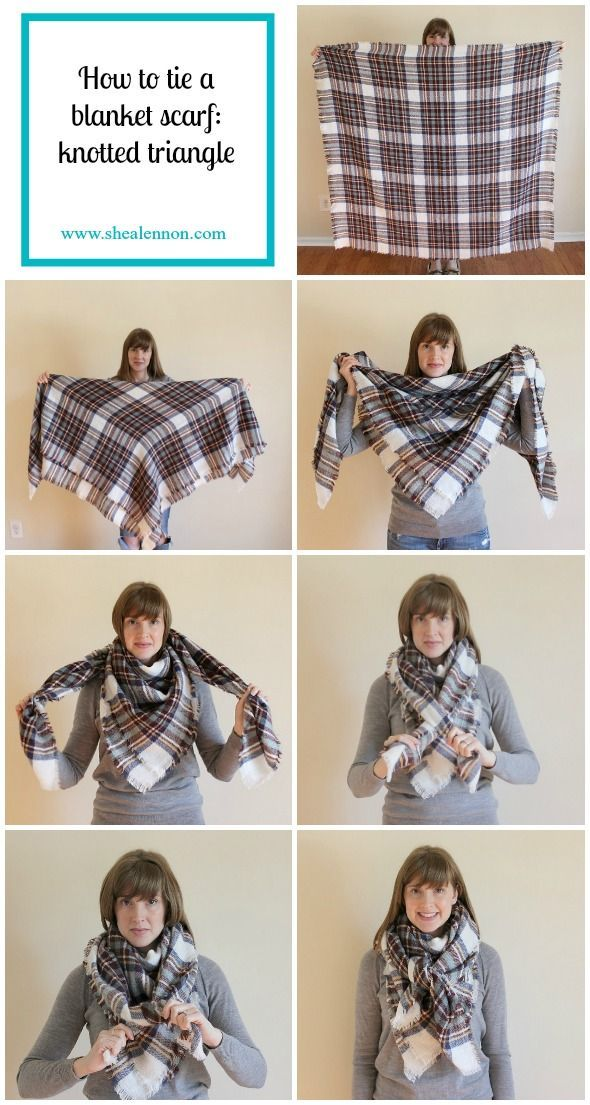 how to wear a triangle blanket scarf