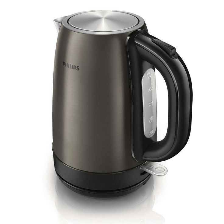 Philips Titanium Metal Cordless Electric Tea Kettle HD9322/80 Stainless Steel #Philips