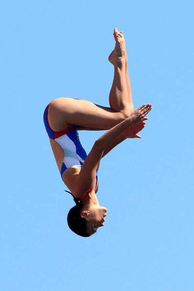 Tara Hyer Tira of USA competes in the Women's 20m High Diving on day eleven of the 15th FINA World Championships at Moll de la Fusta on July 30, 2013 in Barcelona, Spain.