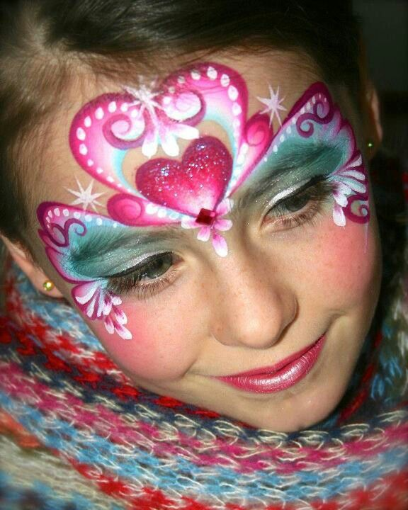 cute heart mask