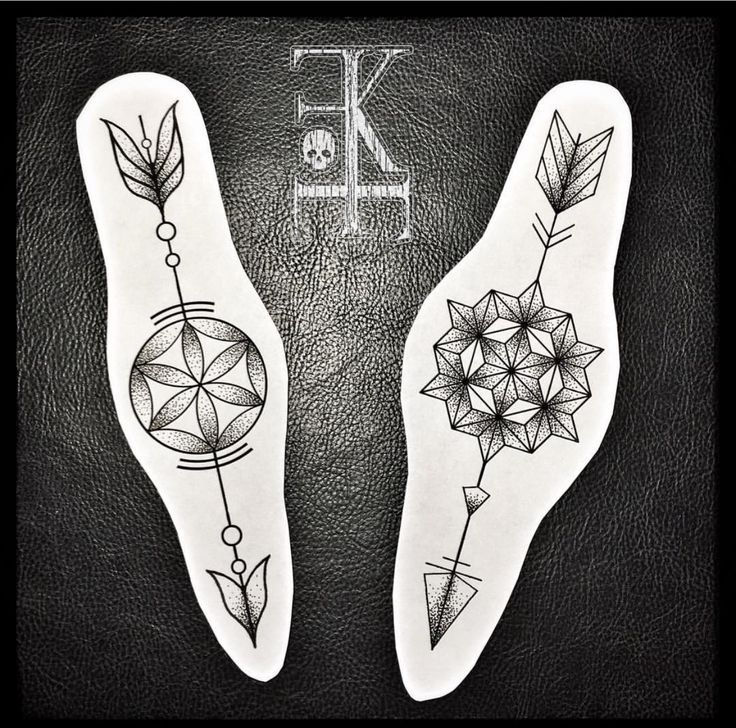 Geometrical arrows tattoo design / drawing found on instagram