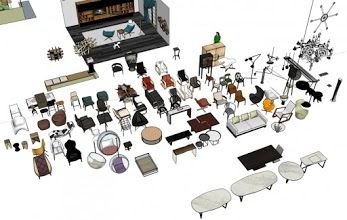 3D Model Free: Sketchup 3D Free model collection – Furniture Collection 1