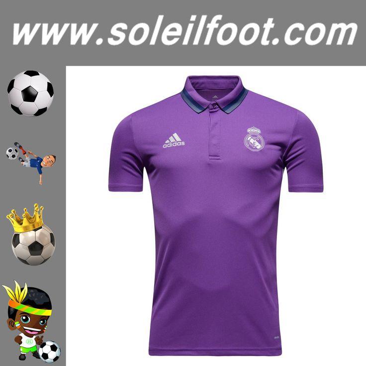 Les Nouveaux Polo De Foot Real Madrid Pourpre Saison 16 17 Replica