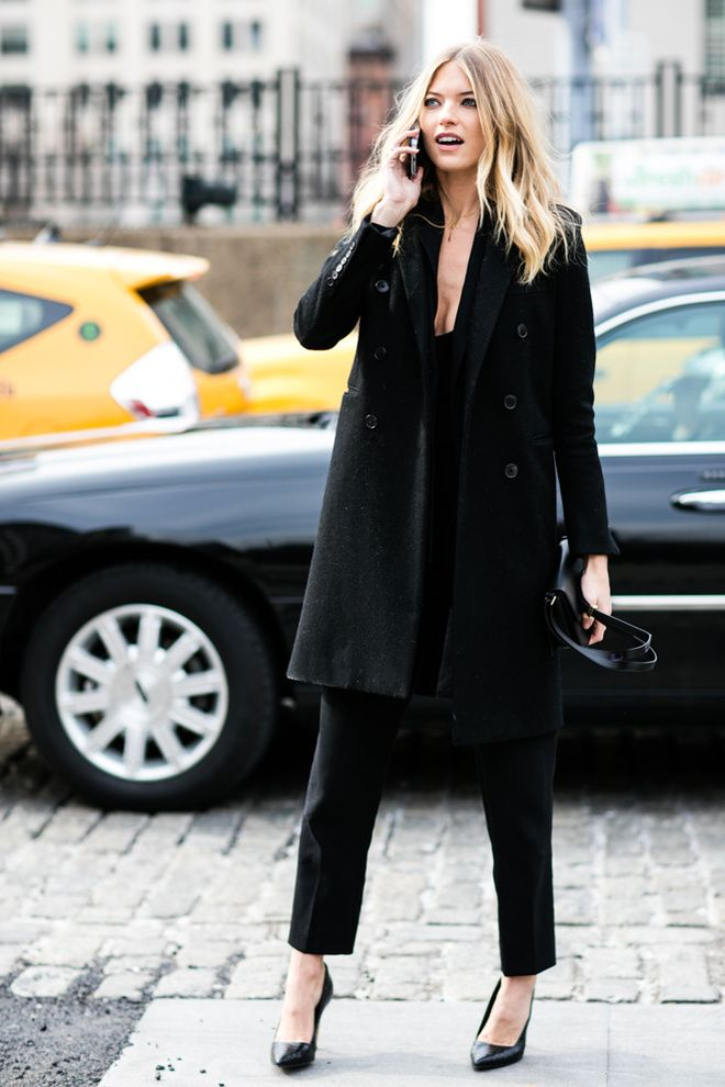 Martha Hunt, Street Style at New York Fashion Week, February 2016