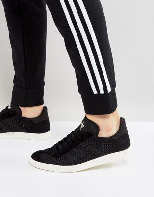 adidas Originals Gazelle Primeknit Trainers In Black BZ0003 ...