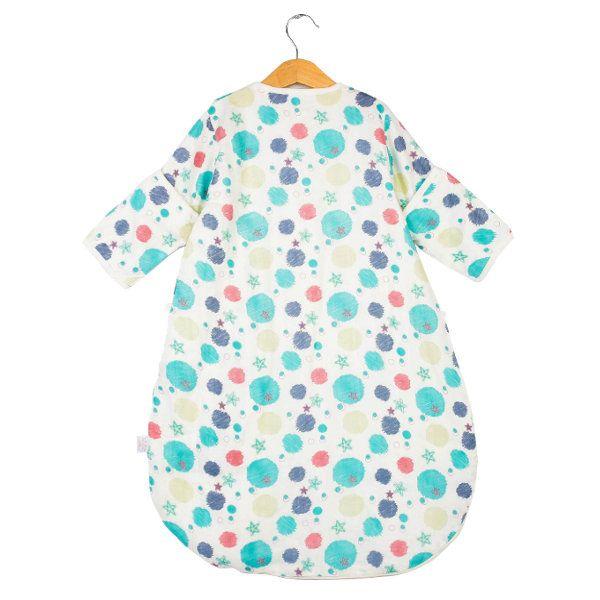 TUBENG Cute Baby Thin Adjustable Floral Long Sleeve O-Neck Sleeping Bag