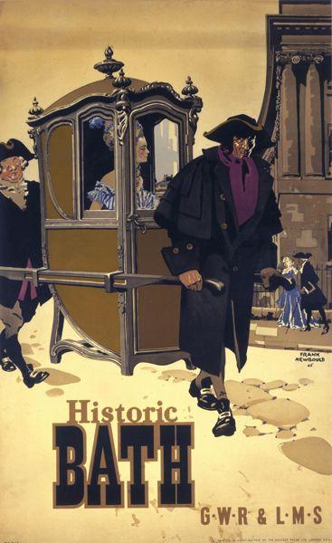 ENGLAND - SOMERSET - Bath Vintage Tourism Poster