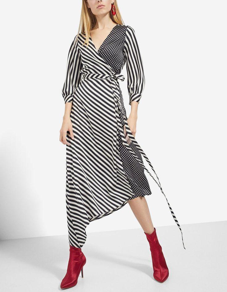 Printed midi dress - Dresses | Stradivarius México - Winter Sale