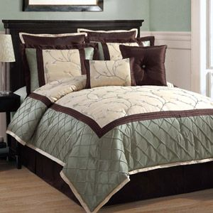 Discontinued Victoria Classics Alexandria 8 Piece Bedding Comforter Set Euro Shams Included