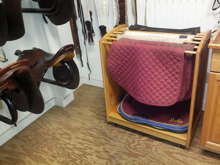 Horse Saddle Pad Rack