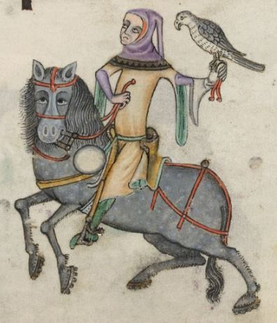 Detail from The Luttrell Psalter, British Library Add MS 42130 (medieval manuscript,1325-1340), f163r