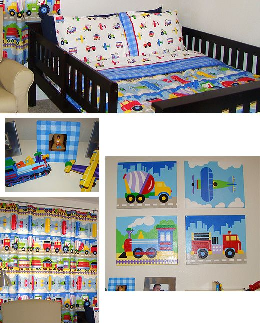 Transportation inspired kids room! Perfect for the kid on the move!
