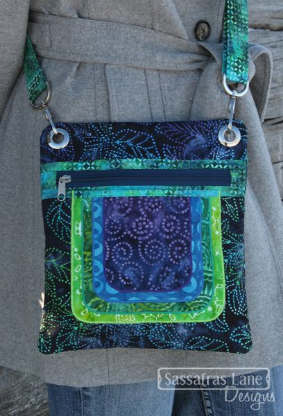Cassidy Crossover Purse Pattern - Sassafras Lane Designs