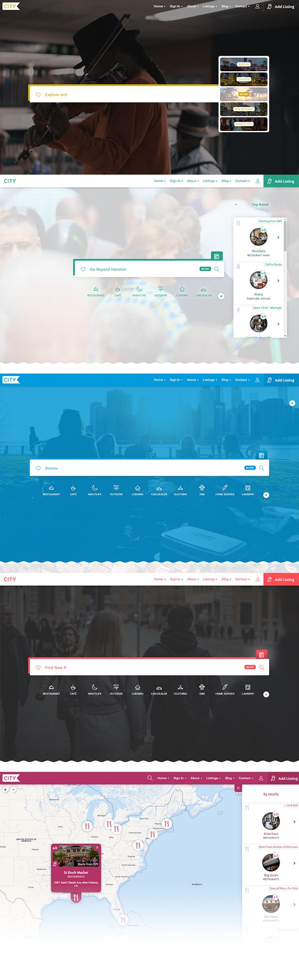 Buy City Listing Directory Template by