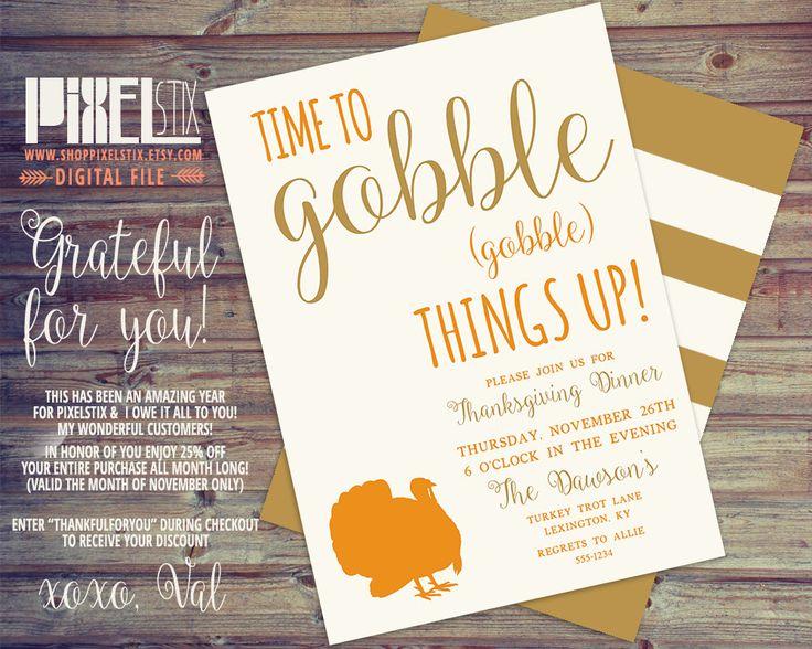 Best Pixelstix Thanksgiving Invitations Images On