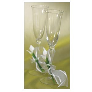 Toasting Set (includes 2 flutes) Bridal Beauty Calla lily Collection