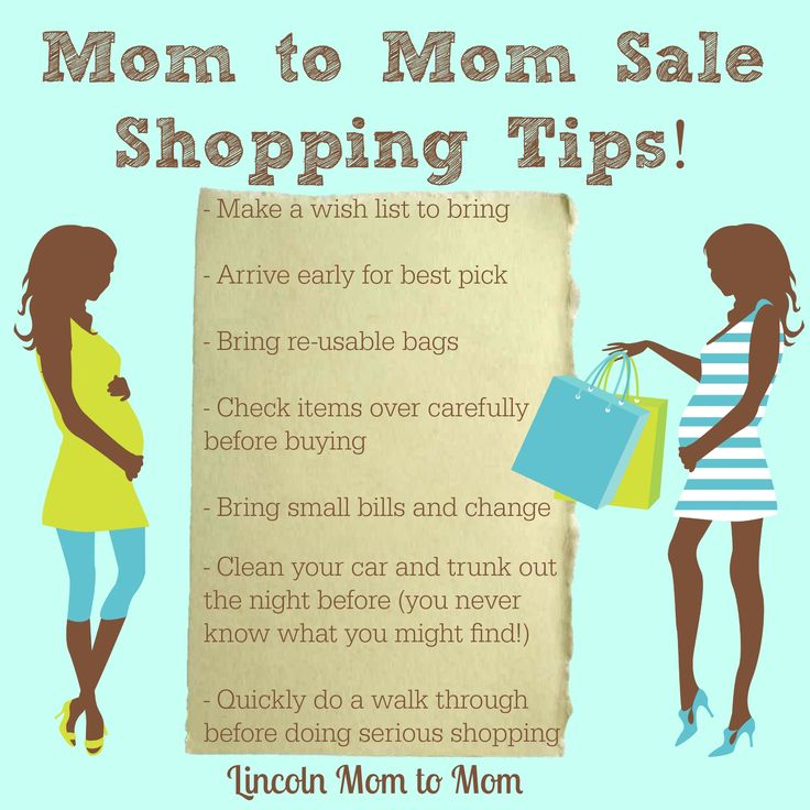 Mom to Mom Sale Shopping Tips