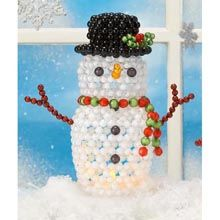 Holiday Snowman Bubble Beads Kit - Herrschners