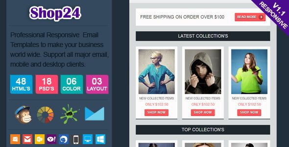 Swatches   Responsive Email Template  Swatches Has Features